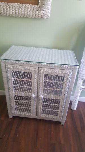 Wicker bedroom cabinet for Sale in Tucson, AZ