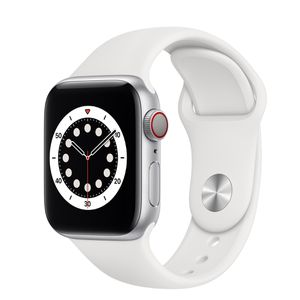 *UNOPENED BRAND NEW* Apple Watch Series 6 44mn Silver Aluminum White Sports Band Cellular+ GPS for Sale in Rockville, MD