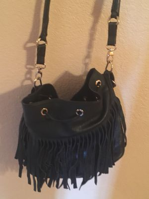 My Choice Black Fringed leather Hobo Bag/Purse for Sale in Las Vegas, NV