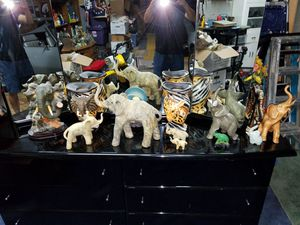 collectible animals zebra elephants Eagles all 5 dollars each for Sale for sale  Levittown, PA