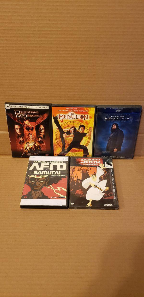 5 Martial Art DVD MOVIES
