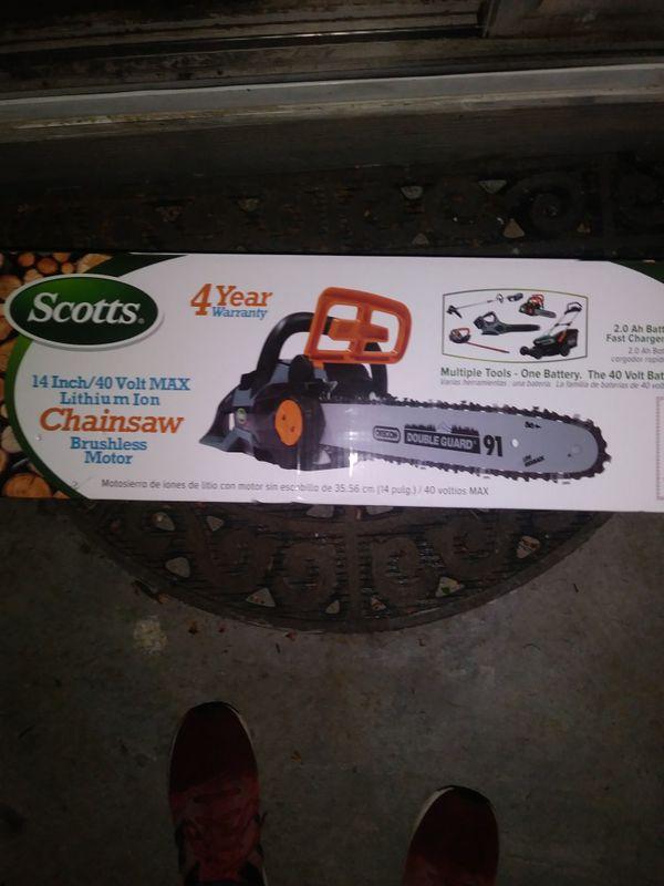 Scott's~ Battery Powered~ Brushless~Chainsaw