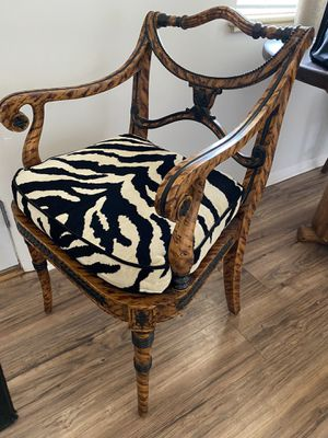 Vintage zebra accent chair for Sale in Wheat Ridge, CO