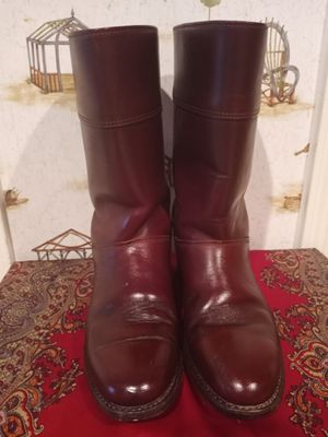 DOUBLE H PACKER HH MEN'S BROWN TAN SOFT LEATHER COWBOY WORKS BOOTS. for Sale in Sugar Land, TX