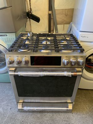 GE brand coffee stove 30 wide by 26 deep new electric gas oven 220 volt with three months free delivery warranty in oakland free installation area for Sale in Oakland, CA