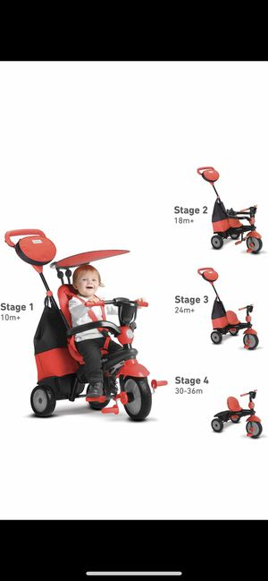 smarTrike 4-in-1 Cruise Tricycle, Red for Sale in Detroit, MI