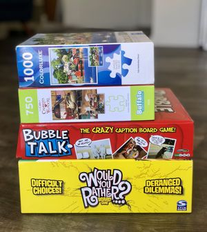 4 Games & Puzzles! Only $10 for Sale in San Diego, CA