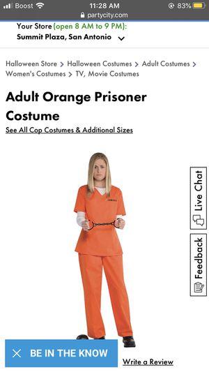 Halloween adult inmate costume for Sale in San Antonio, TX