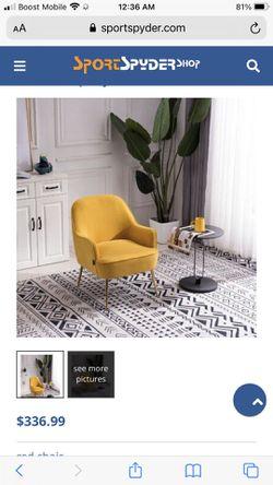 Brand New velvet Accent Chair for Sale in Marietta, GA
