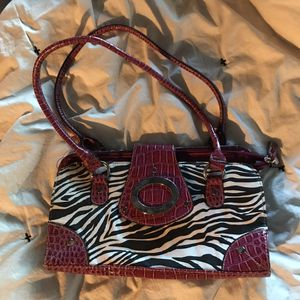 Zebra & croc purse for Sale in Endicott, NY