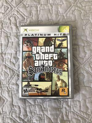 Grand Theft Auto San Andreas Original Xbox for Sale in Eastvale, CA