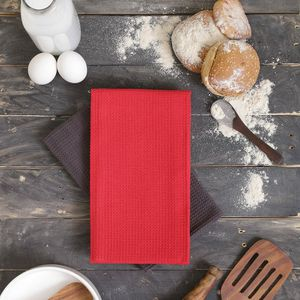 NEW--Elements Home Collection 6 Pack Kitchen Towels (Charcoal & Red) for Sale in Severn, MD