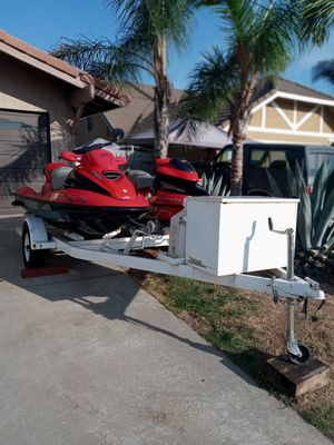 2001 GTX and 2003 XP DI SEA DOO With Zeman 2005 Trailer for Sale in Moreno Valley, CA