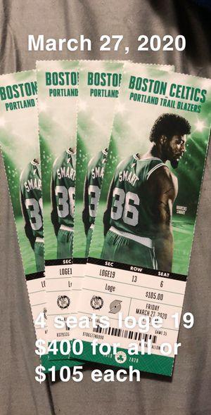 Celtics vs blazers for Sale in Boston, MA