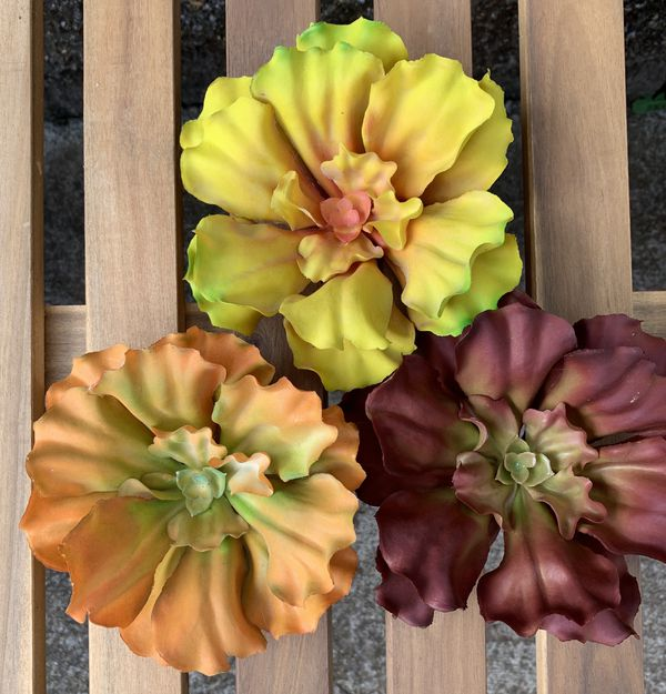Blooming Artificial Succulent Pick (3 piece)