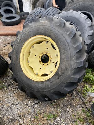 16.9 - 24 back hoe tractor wheels tires for Sale in Hollywood, FL