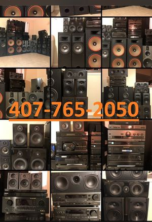 SPEAKERS RECEIVERS SURROUND CD PLAYERS HOME AUDIO ENTERTAINMENT SYSTEMS for Sale in Orlando, FL