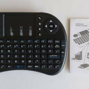 I8 2.4GHz Wireless Mini Qwerty Keyboard Mouse Touchpad with Receiver for Sale in National City, CA