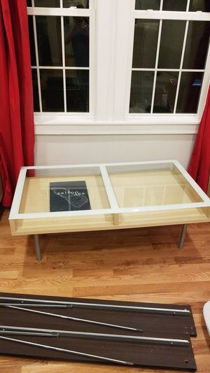 Wood glass and metal coffee table for Sale in Washington, DC