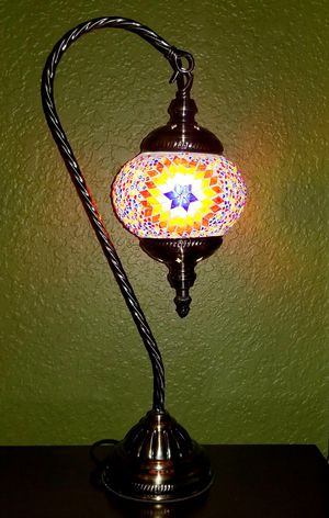 Persian Mosaic Table Lamp for Sale in Woodinville, WA