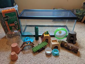 HAMSTER SUPPLIES AND CAGE for Sale in Montgomery, AL