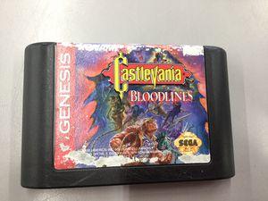 Sega Genesis Castlevania Bloodlines by Konami (Game Cartridge Only) for Sale in Kent, WA