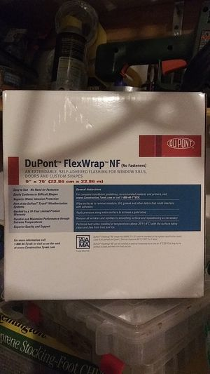 """Dupont FlexWrap NF, 9""""x 75' flashing, extendable peel and stick. Conforms to difficult shapes for Sale in Charlotte, NC"""