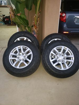 Goodyear Wrangler tires and Chevy rims for Sale in Lake Elsinore, CA