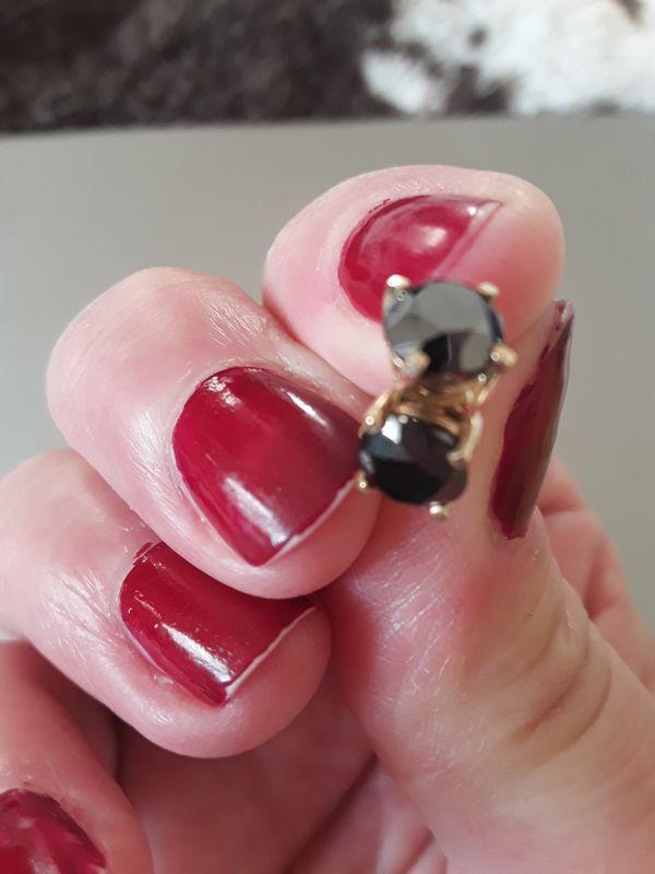 Black diamonds earrings