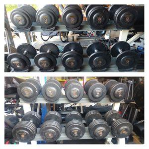 Ivanko Dumbbells - pro-style, 25-100 lbs, Hampton rack for Sale in Elk Grove, CA