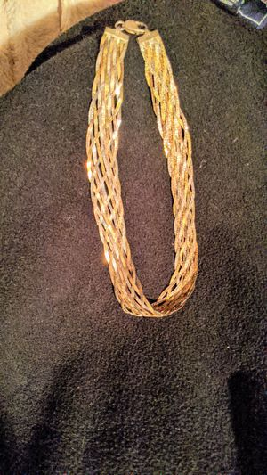 Beautiful vintage braided herribone choker necklace for Sale in Snohomish, WA