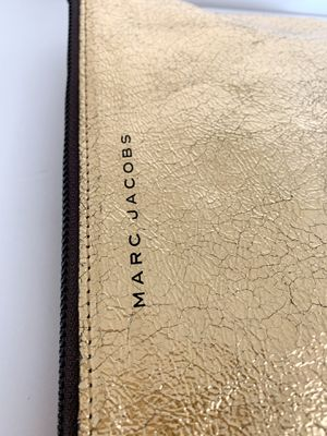 MARC JACOBS X Neiman Marcus | Target Gold Cracked Lamé Clutch for Sale in Corona, CA