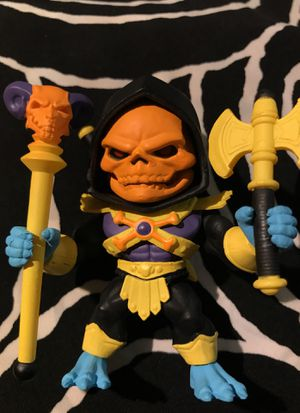 The Loyal Subjects TLS Masters of the Universe MOTU Gold Armor Disco Skeletor 1/96 TRU Exclusive for Sale in Boca Raton, FL