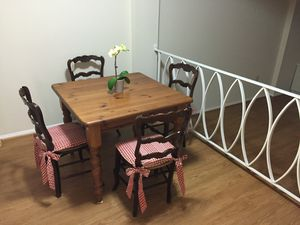 Wooden Kitchen Table with 4 Chairs for Sale in Washington, DC
