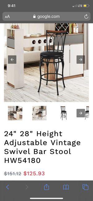 1 Adjustable vintage swivel bar stool for Sale in Selma, CA