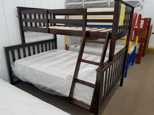 New in box no money down no credit needed twin full wooden bunk bed only for Sale in Takoma Park, MD