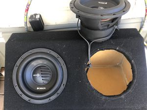 "Subwoofer audio Orion X TR PRO 10"" 500 rms 1 ohms 2 ohms end Amplifier punch 500 watts Box 27 ""long X wide X 13 high $250 for Sale in Phoenix, AZ"