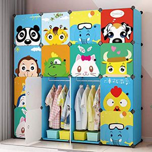 MAGINELS Kids' Toy Storage Cube Organizer for Children Bookcase Cabinet Blue Cartoon for Sale in Plantation, FL