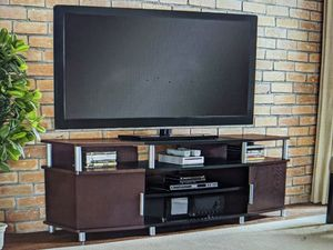 """Brand New (in the box) Ameriwood Carson TV Stand with Storage in Black/Cherry (up to 70"""") for Sale in Cincinnati, OH"""