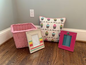 Girls room decor - Madura cupcake pillow and more! for Sale in Potomac, MD