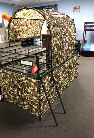 Camouflage twin tent bed for Sale in Fresno, CA