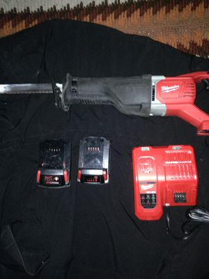 Milwaukee saws all 2 batteries and one charger for Sale in Salt Lake City, UT