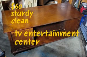 Tv entertainment center - cabinet doors shelves shelf for Sale in Tacoma, WA