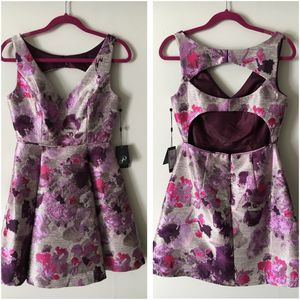 New Adrianna Papell Purple Jacquard Dress Size 6 for Sale in Fort Washington, MD