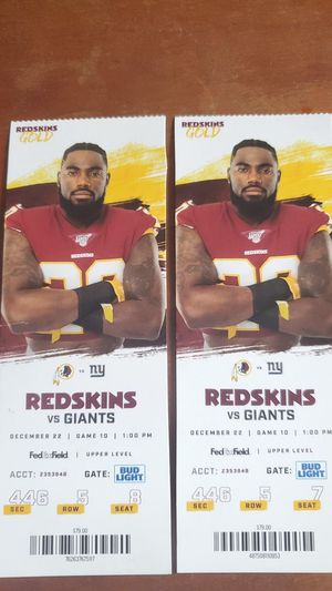 Redskins Vs. Giants for Sale in Frederick, MD