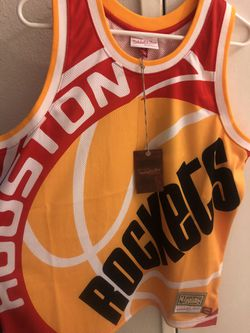 Mitxhell &ness Size Large Houston Big Face Jersey for Sale in Santa Ana,  CA