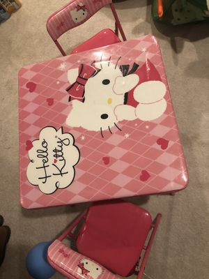 Hello Kitty soft table with 2 chairs for Sale in Fairfax, VA