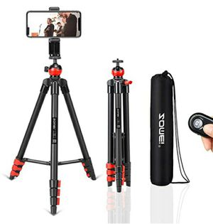 "PHONE TRIPOD 54"" inch WITH BLUETOOTH REMOTE CELLPHONE HOLDER BALL HEAD FOR CAMERA GoPro/MOBILE CELL PHONE iPhone 11/Xs/Xr/Xs Max/X/8/GALAXY NOTE 9 for Sale in Los Angeles, CA"