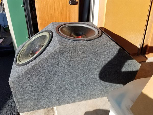"""Three 12"""" MTX Subwoofers and Box!!"""