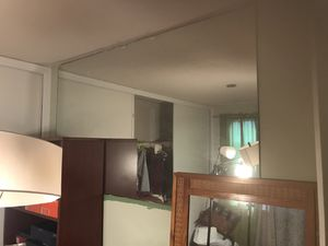. Sticking to the wall mirror, you need to take it down, big, for Sale in Pompano Beach, FL